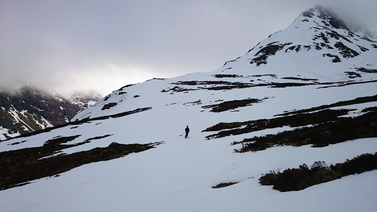 Skiing back to the burn