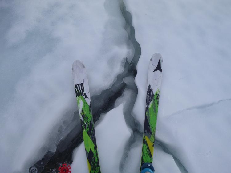 Cracks in the ice of Loch an Sgòir